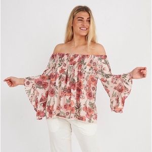 Label Of Love Posy Off Shoulder Top NWT!